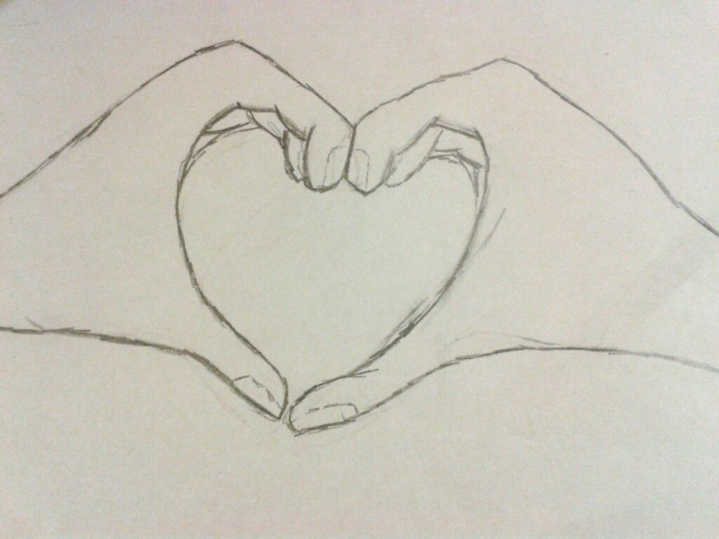 1024x768 Pix For Gt Pencil Drawing Of Hands Making A Heart Art Stuff Lt3