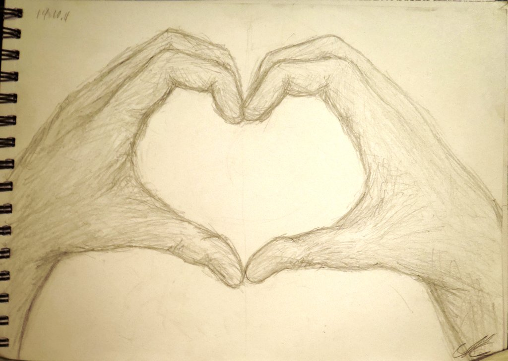 Line Art Heart Outline : Heart hands drawing at getdrawings free for personal use