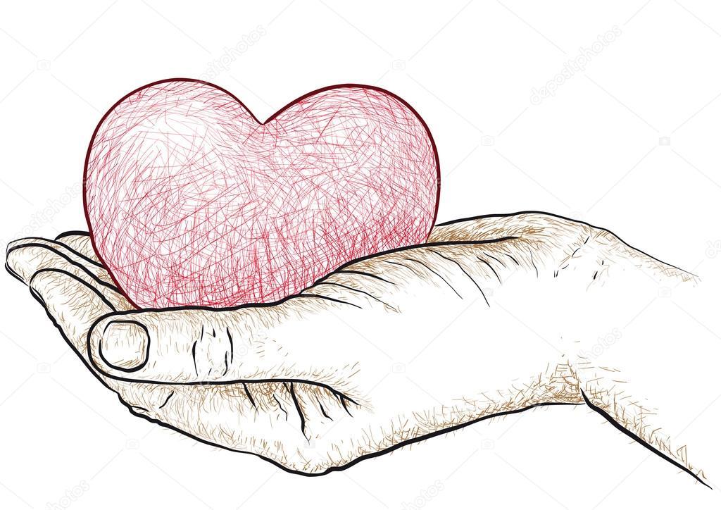 1024x724 Heart In Hand Stock Vector Robodread