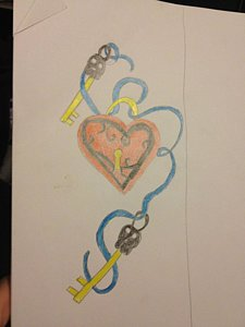 225x300 Heart Key Drawings