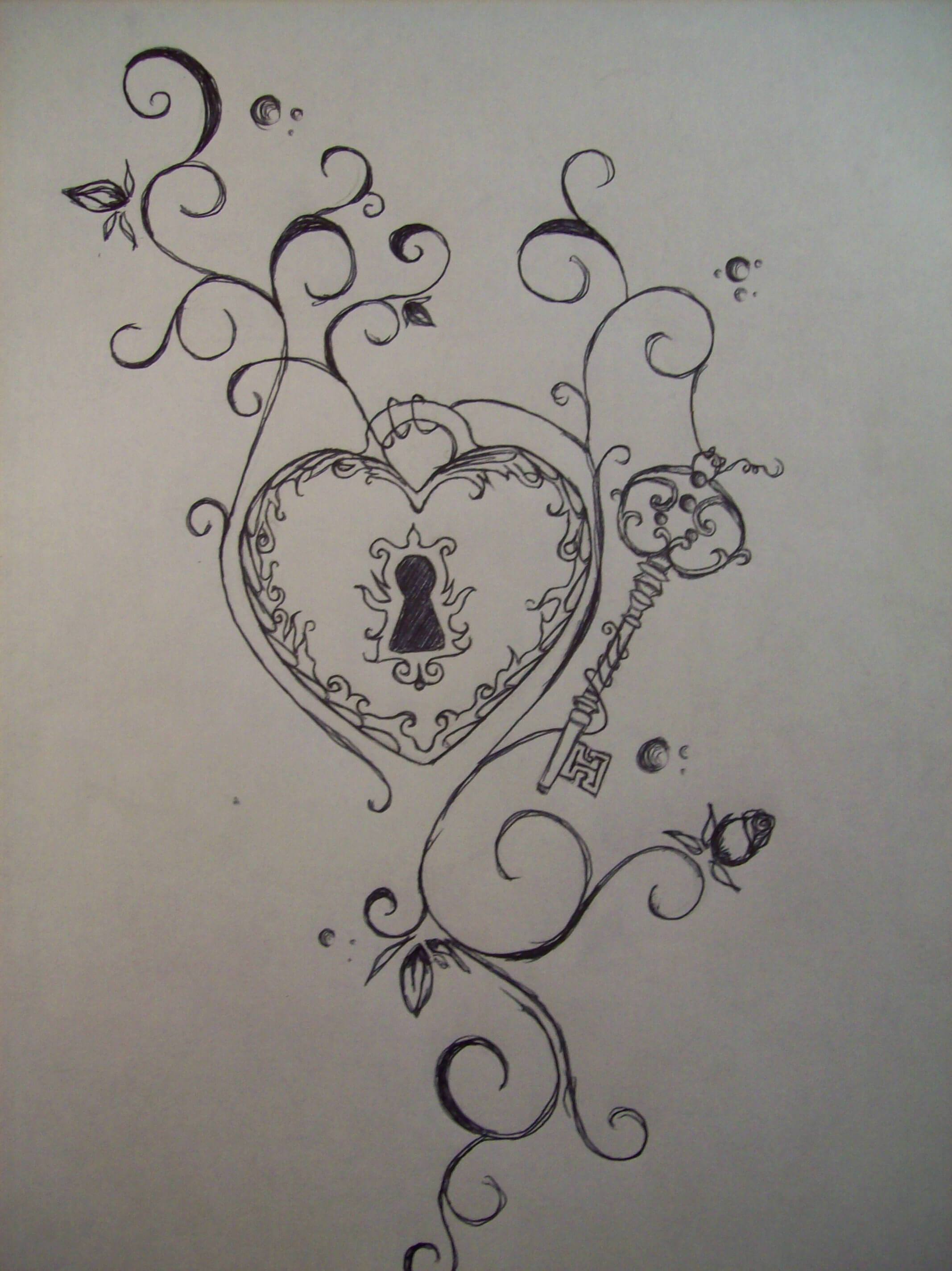 2134x2848 Heart Lock And Key Tattoo Ideas To Unlock Your Love