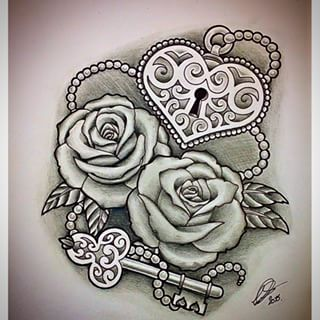 320x320 Heart And Key Tattoos Designs