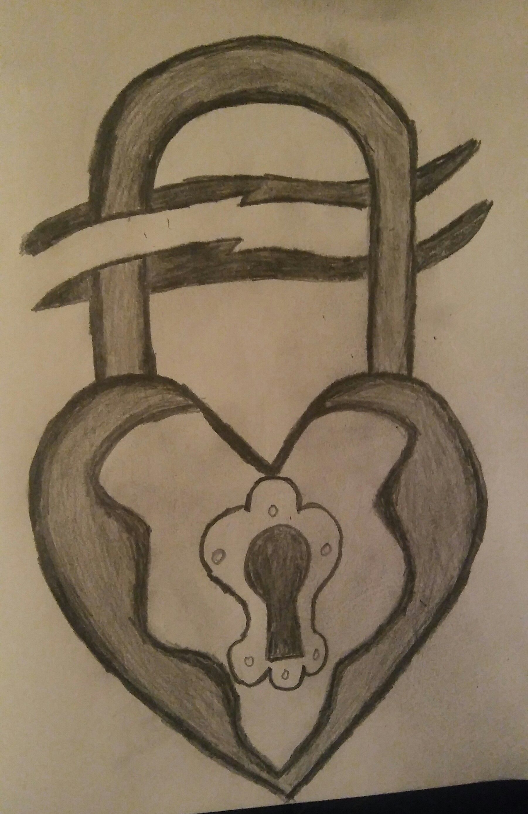 1802x2775 Heart Lock Drawing Do Not Enter Steemit
