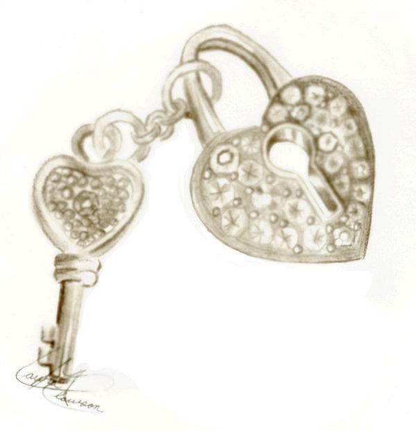 600x622 Heart Lock And Key By Lmclawson