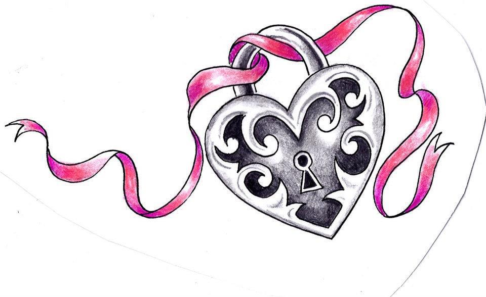 heart lock drawing at getdrawings com free for personal use heart