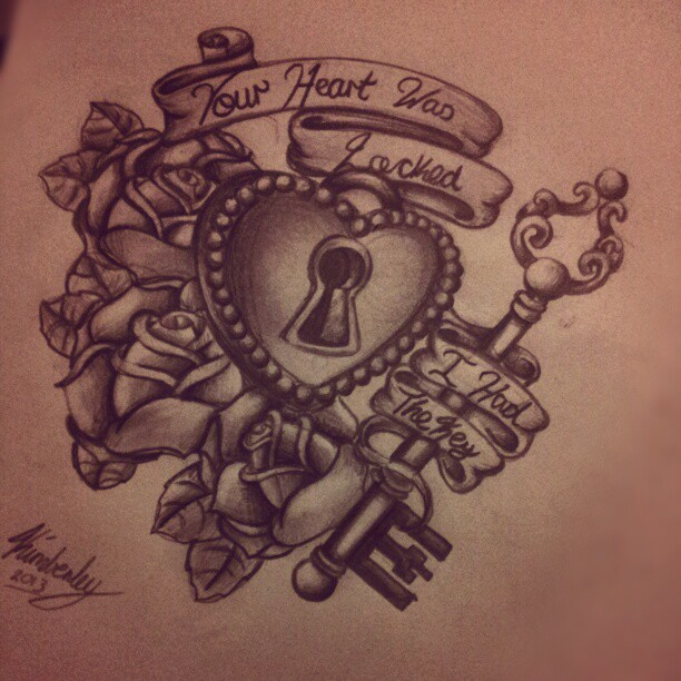 Tattoos of heart lockets