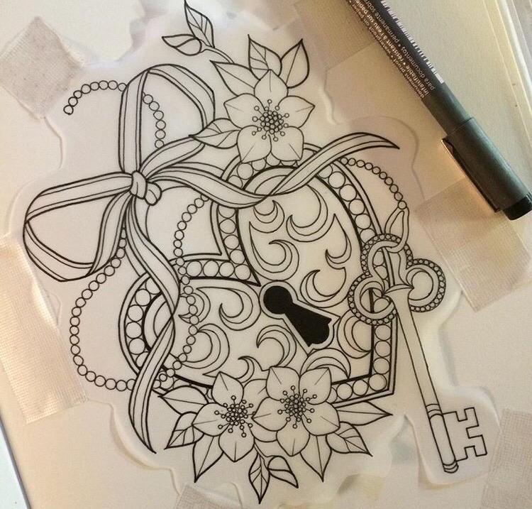 750x717 Sketch Tattoo Locket Tattoo Ideas Sketch Tattoo