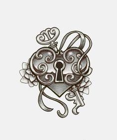 236x282 More Like Heart Locket Tattoo Design By Charlotte