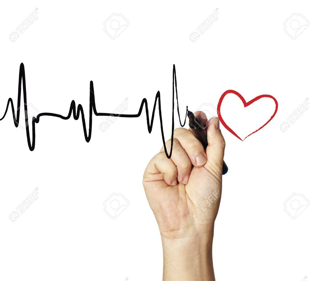 1300x1147 Heart Monitor Drawing Stock Photo, Picture And Royalty Free Image
