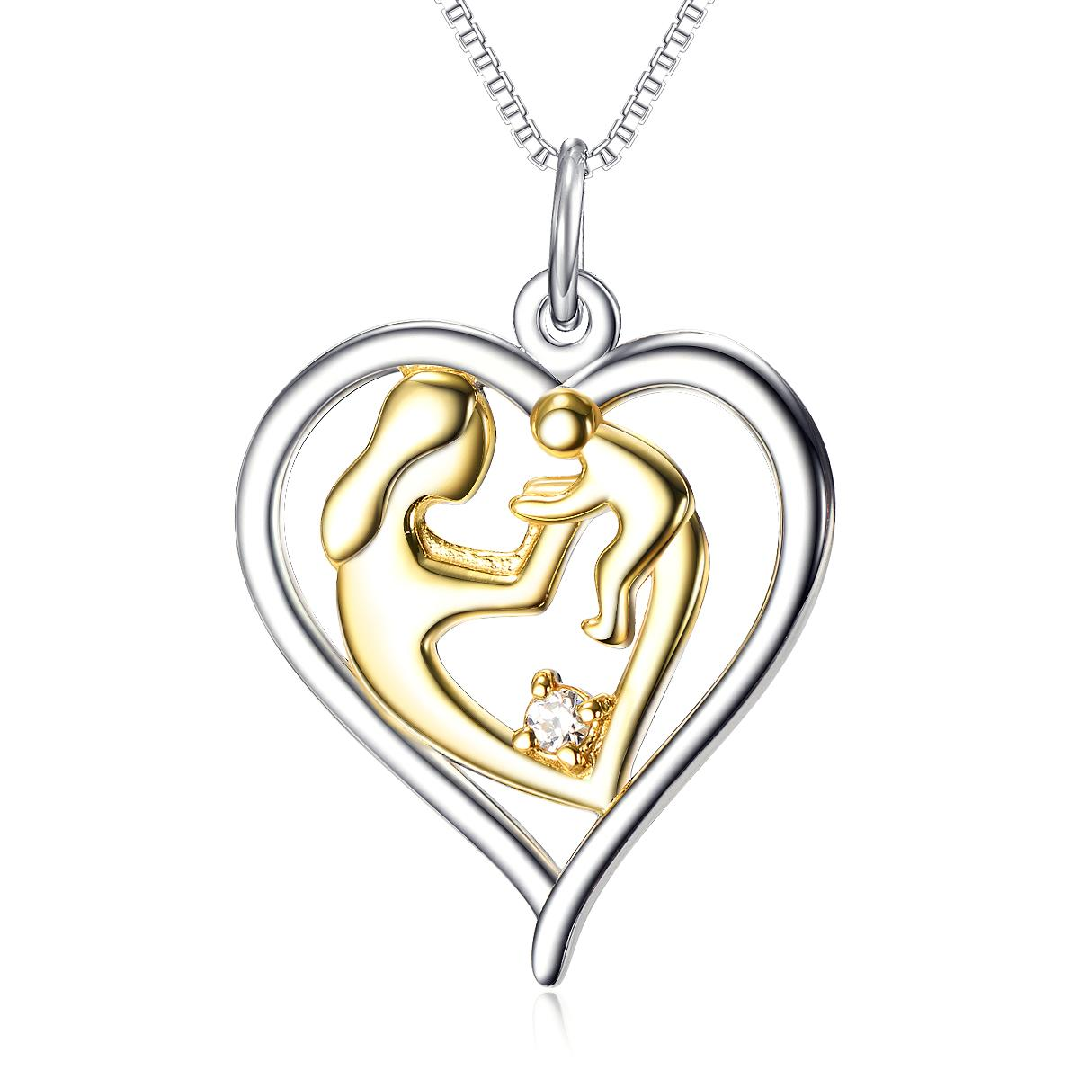 1200x1200 Wholesale 925 Sterling Silver Mother's Love Jewelry 18k Gold