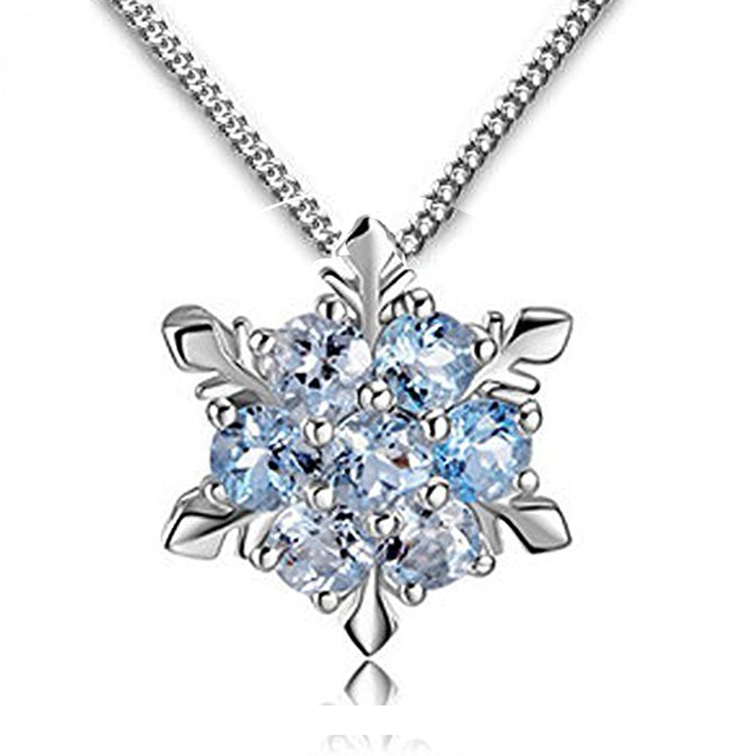 1500x1500 Findout Ladies Swarovski Element Sterling Silver Blue Crystal