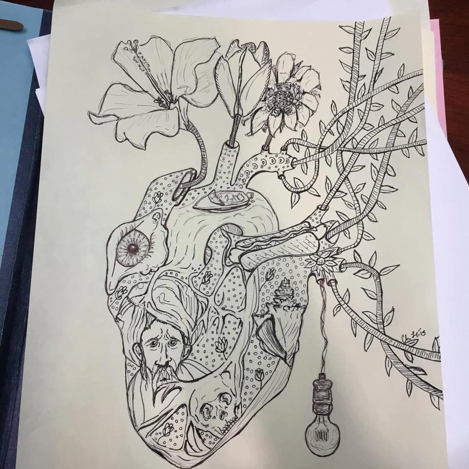 960x960 Sketch Is Me Human Heart Organ Heart Art Heart Drawing