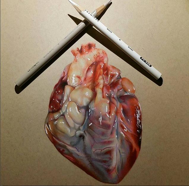 637x627 Color Pencil Drawing By Miguel Santiago