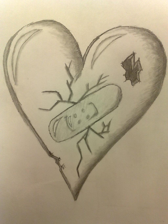 1024x1365 Drawing Of A Broken Heart Drawn Broken Heart Pencil Drawing