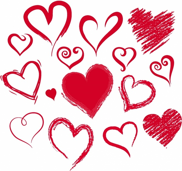 600x563 Vector Heart Pencil Drawing Free Vector Download (93,679 Free
