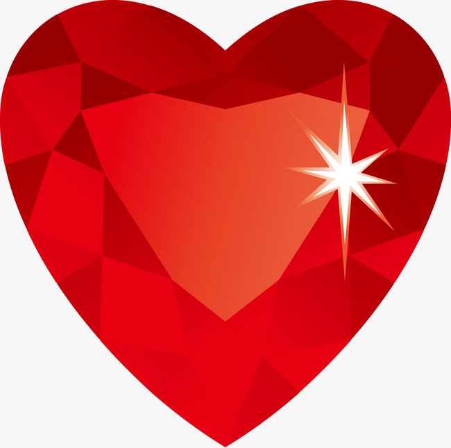 650x645 Vector Heart Shaped Diamond, Diamond, Heart Shaped, Red Png