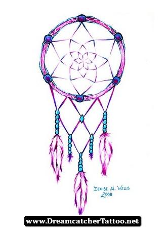 330x450 Heart Shaped Dreamcatcher Tattoo Designs 01