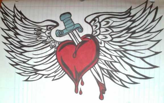 577x361 Dagger Heart Wings Thing By Undeaderaser