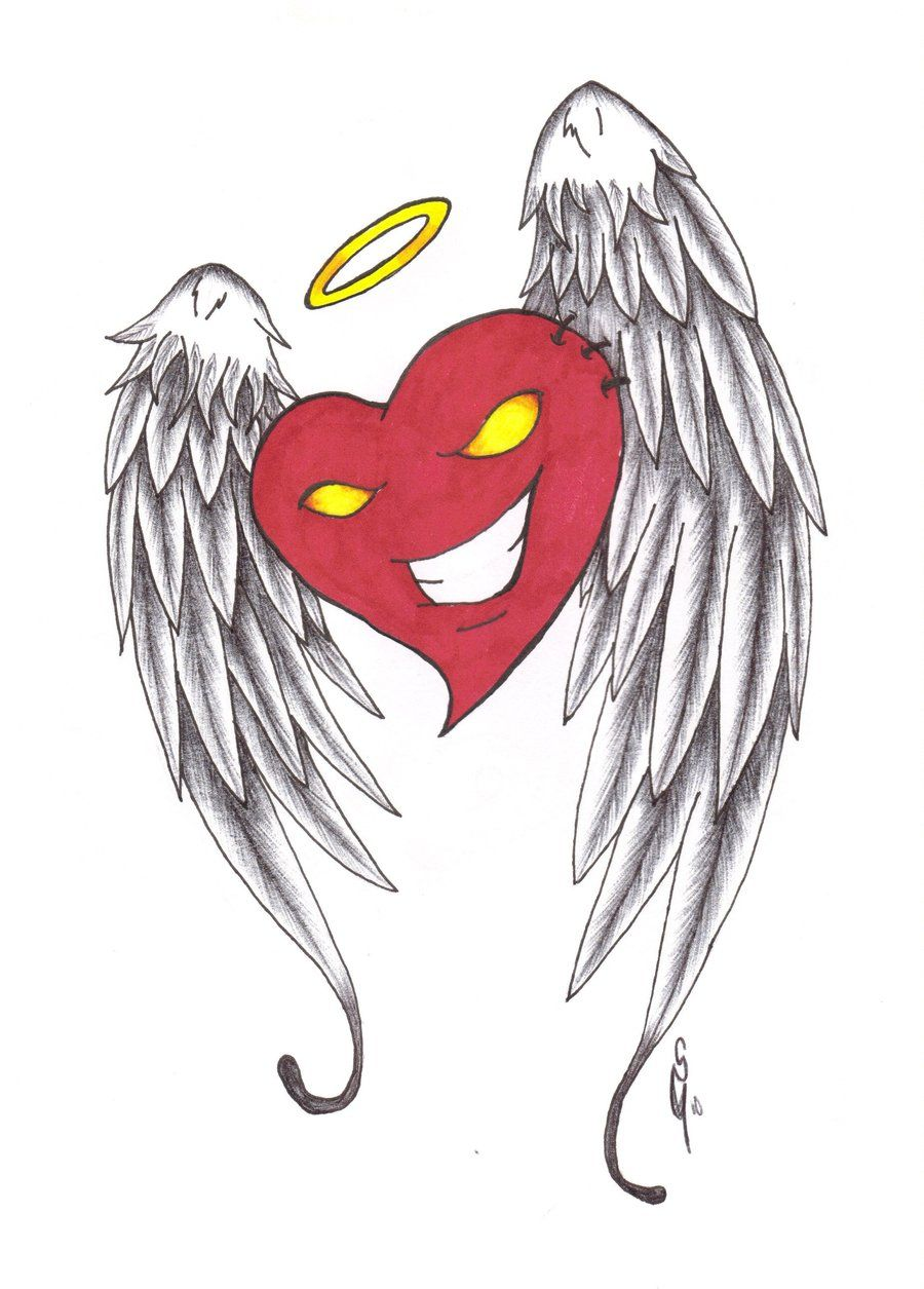 900x1255 Heart Drawing Heart With Wings By Furious Winds Designs