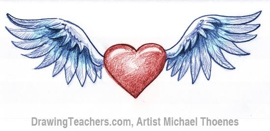 550x268 To Draw A Heart With Wings