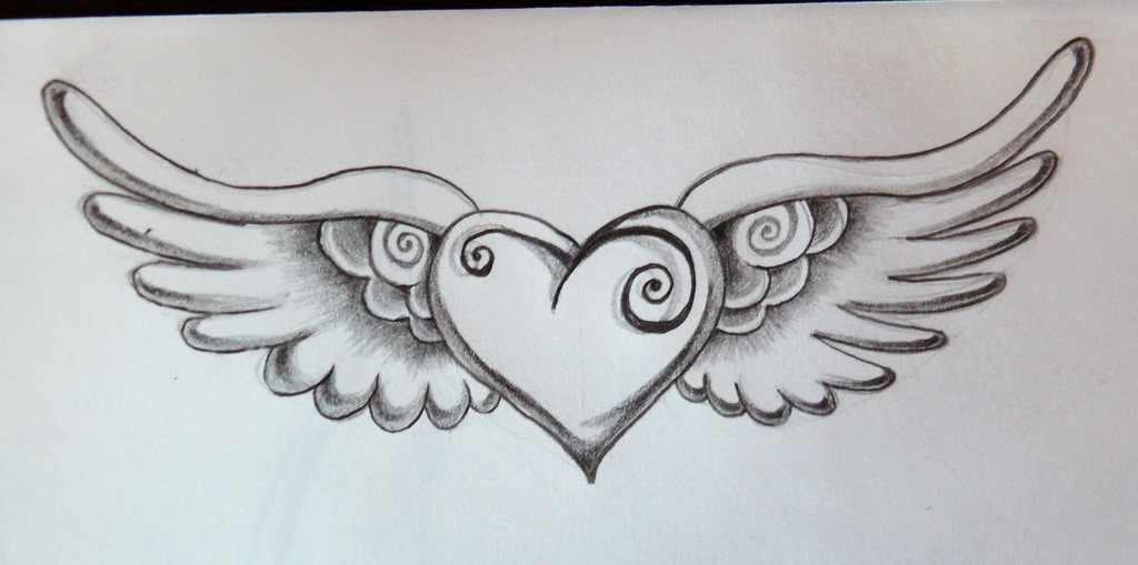 heart with angel wings drawing at getdrawings com free for rh getdrawings com Fallen Angel Wings Tattoo Angel Wing Tattoos On Wrist