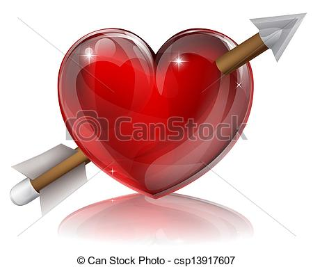 450x384 Love Heart Symbol With Arrow Through It, Concept For Shot