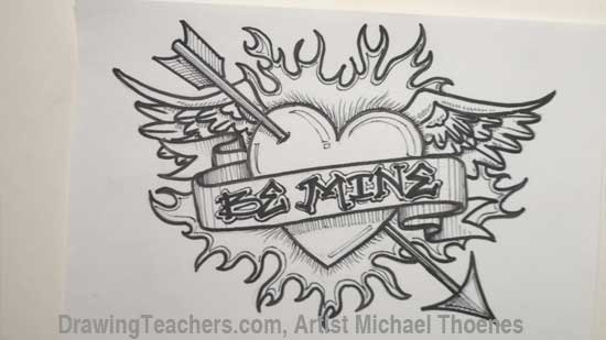 550x309 Heart Drawings