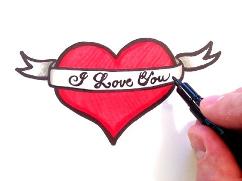 480x360 How To Draw A Heart With A Ribbon
