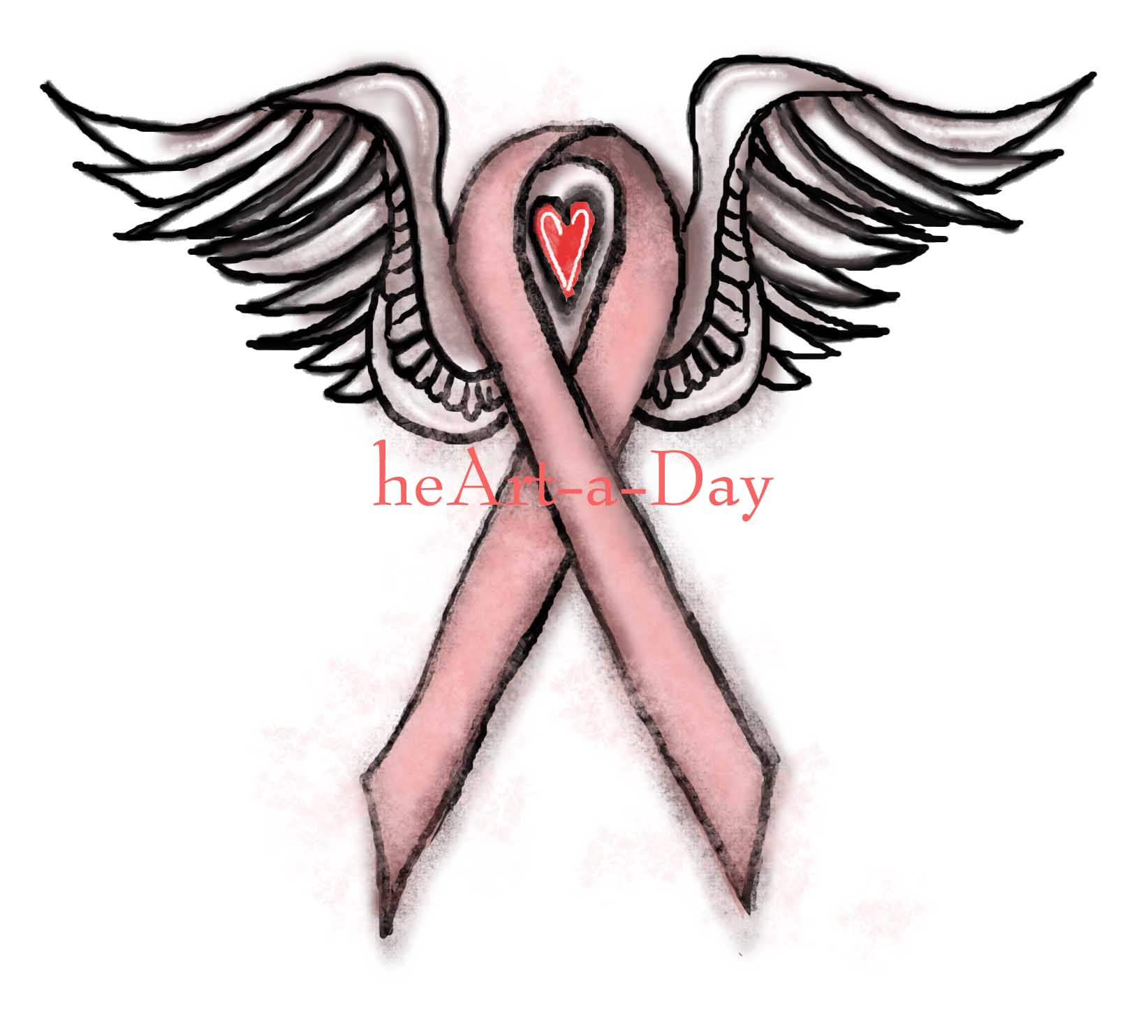 1644x1484 Pink Ribbon Angel Heart A Day