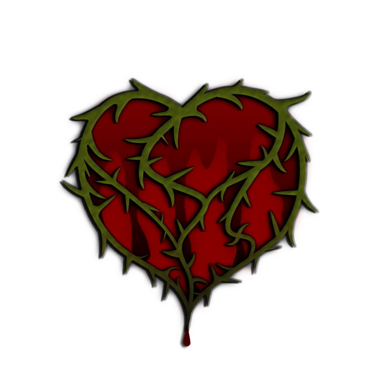 800x800 Heart Of Thorns By Frostarcanum