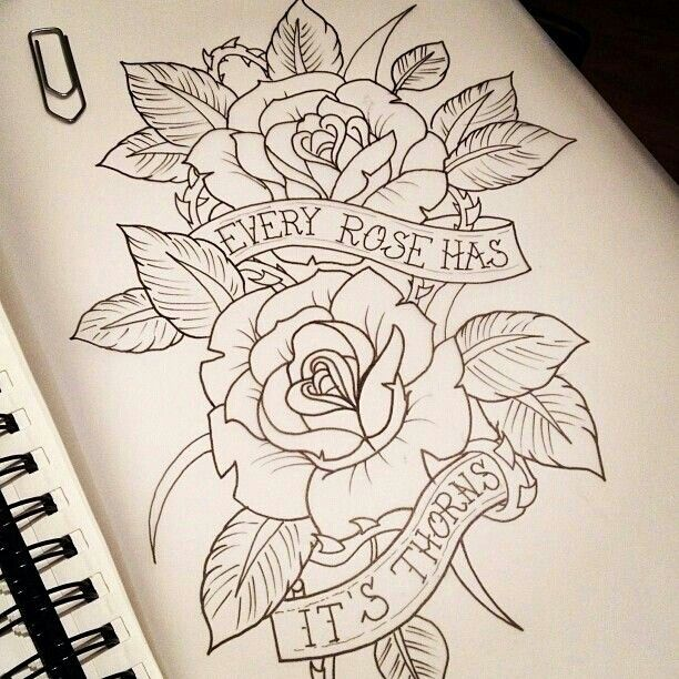 612x612 Rose And Heart Tattoo Designs