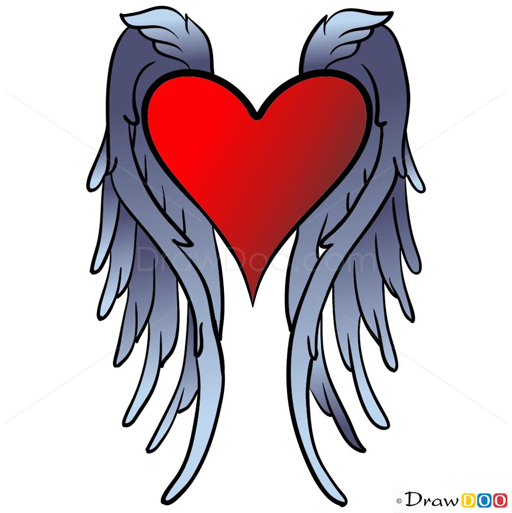 999x1000 Heart Drawings