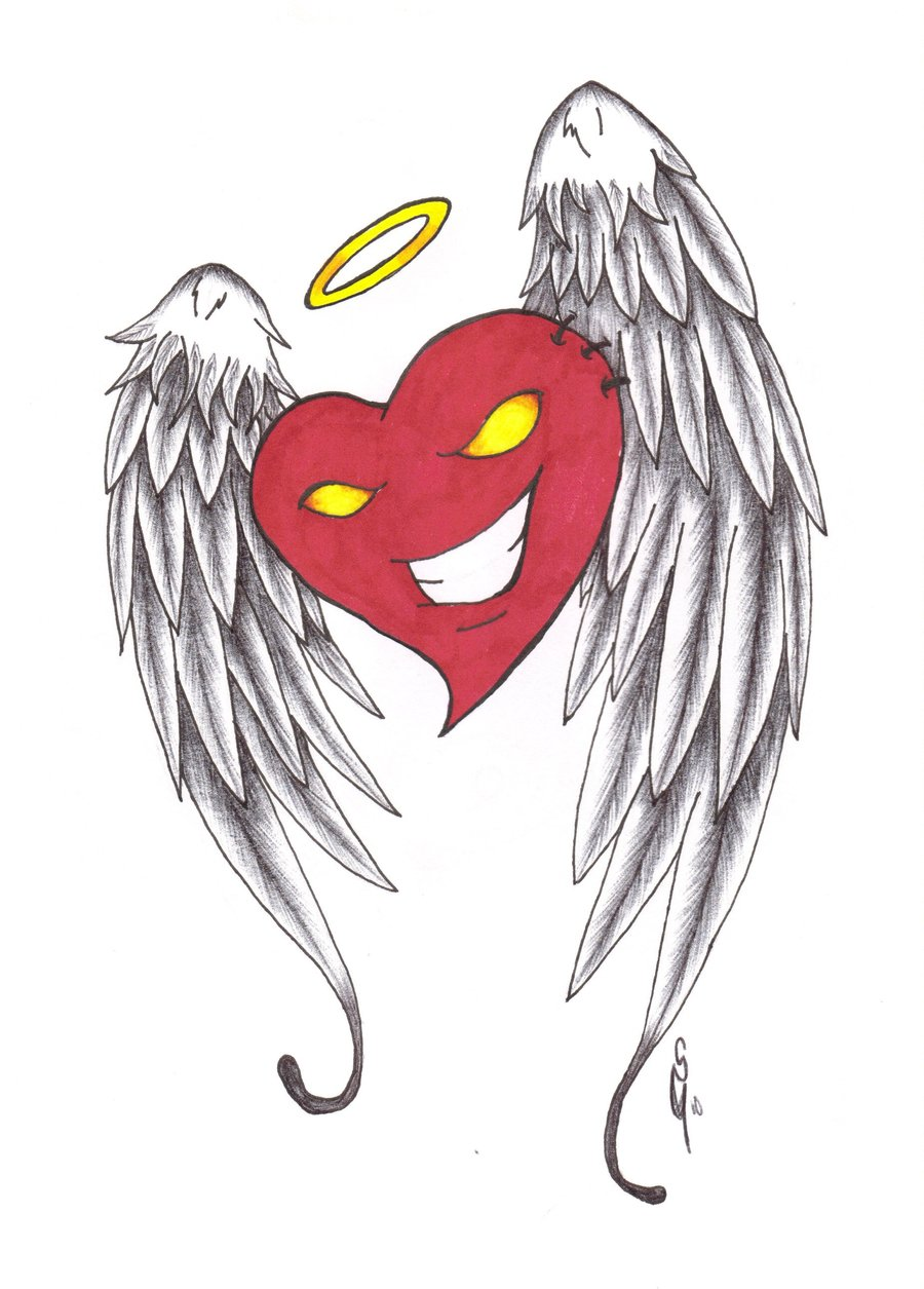900x1255 Heart With Wings By Furious Winds