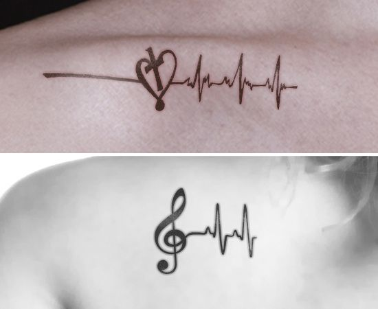 550x450 8 Heartbeat Tattoo Designs That Are Worth Trying Tattoo Designs