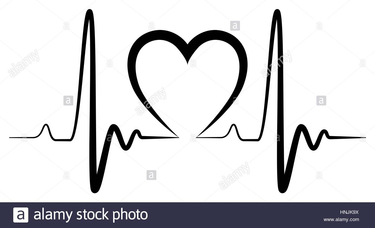 1300x789 Heartbeat Shape Illustration Black For Creative Use In Graphic