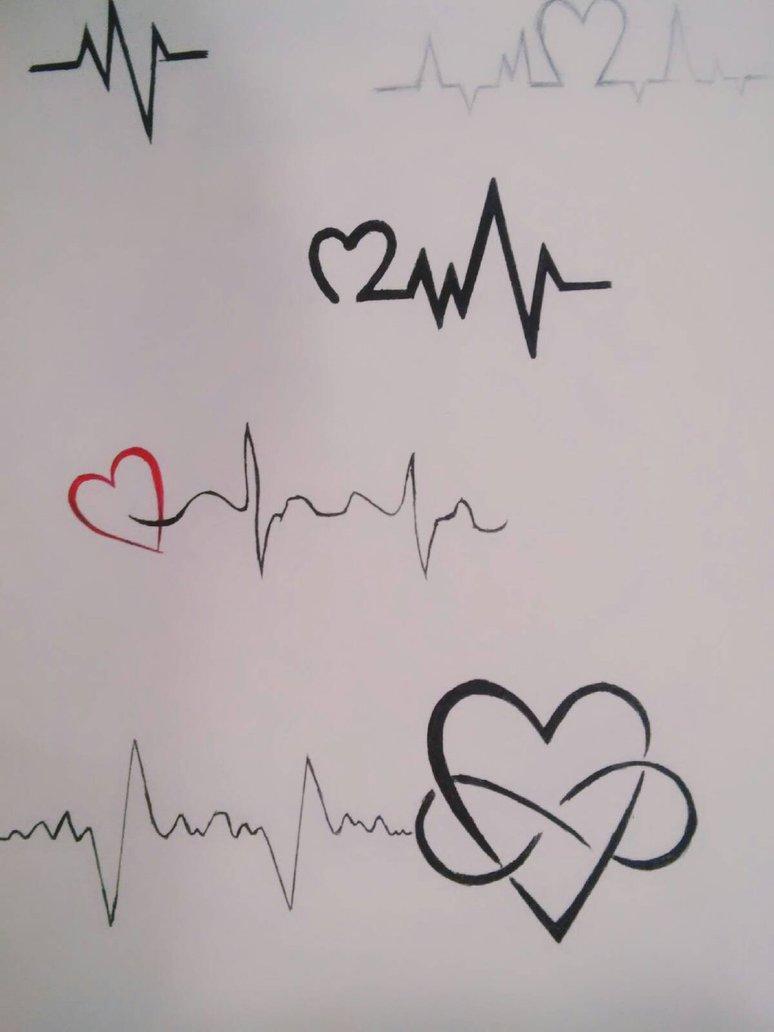774x1032 Heartbeat Tattoo By Dmg52598