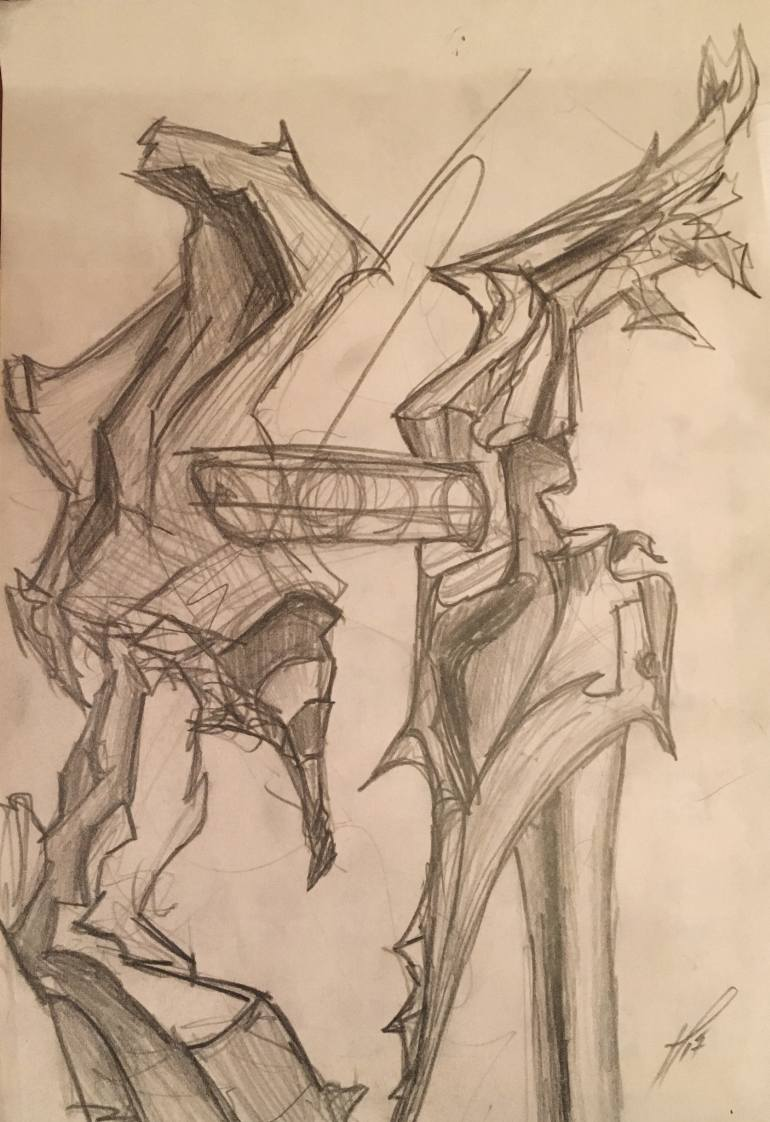 770x1122 Saatchi Art Heartbreak Drawing By Pasha Shockk