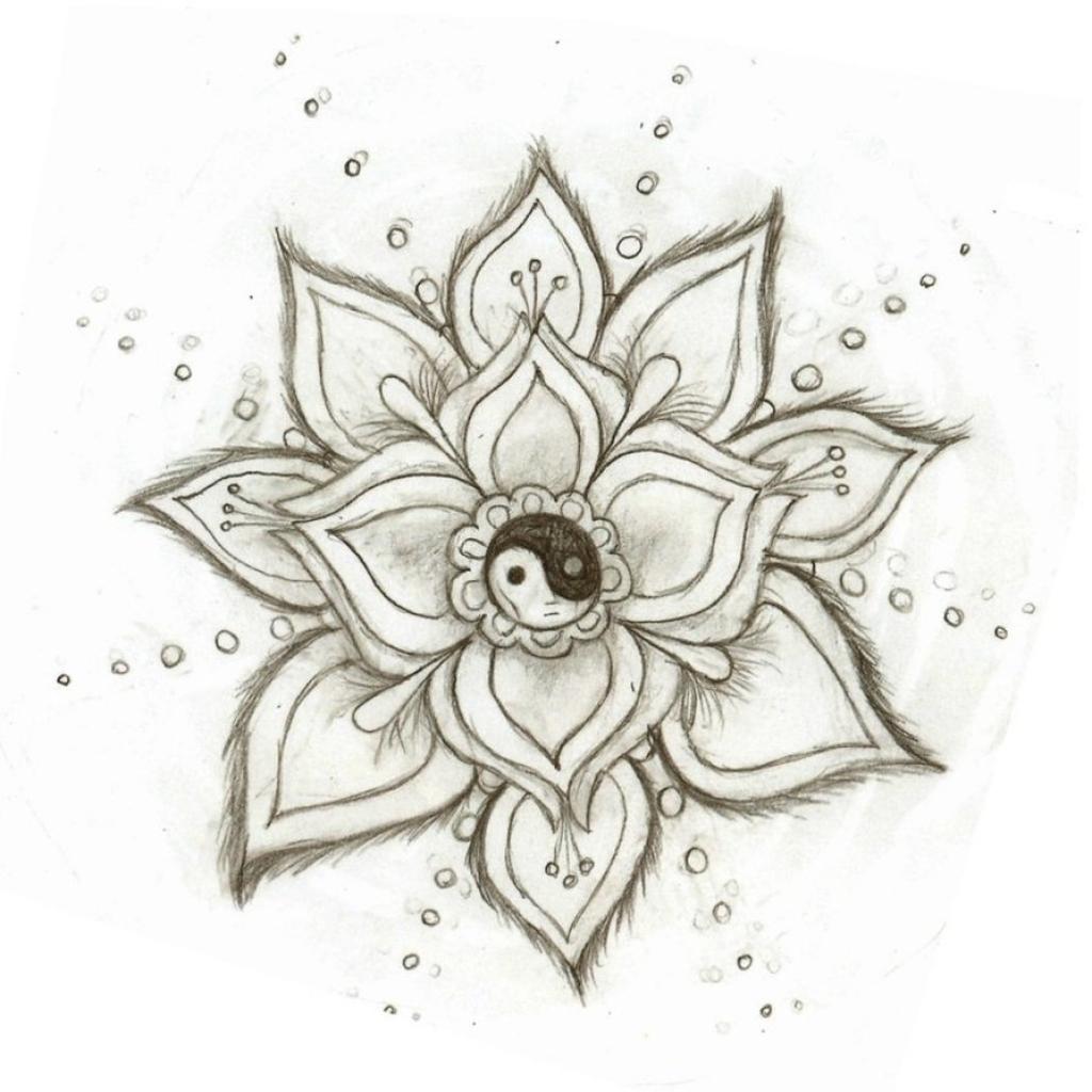 1024x1024 Cool Flower Drawings Follow You Back We Heart It Flowers Draw