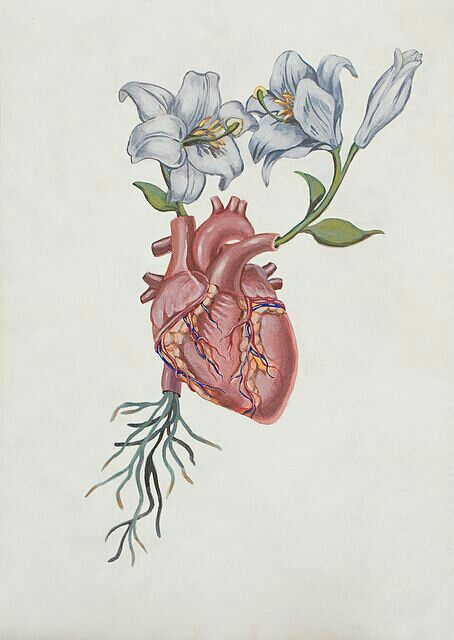 454x640 Gallery Drawing Hearts And Flowers,