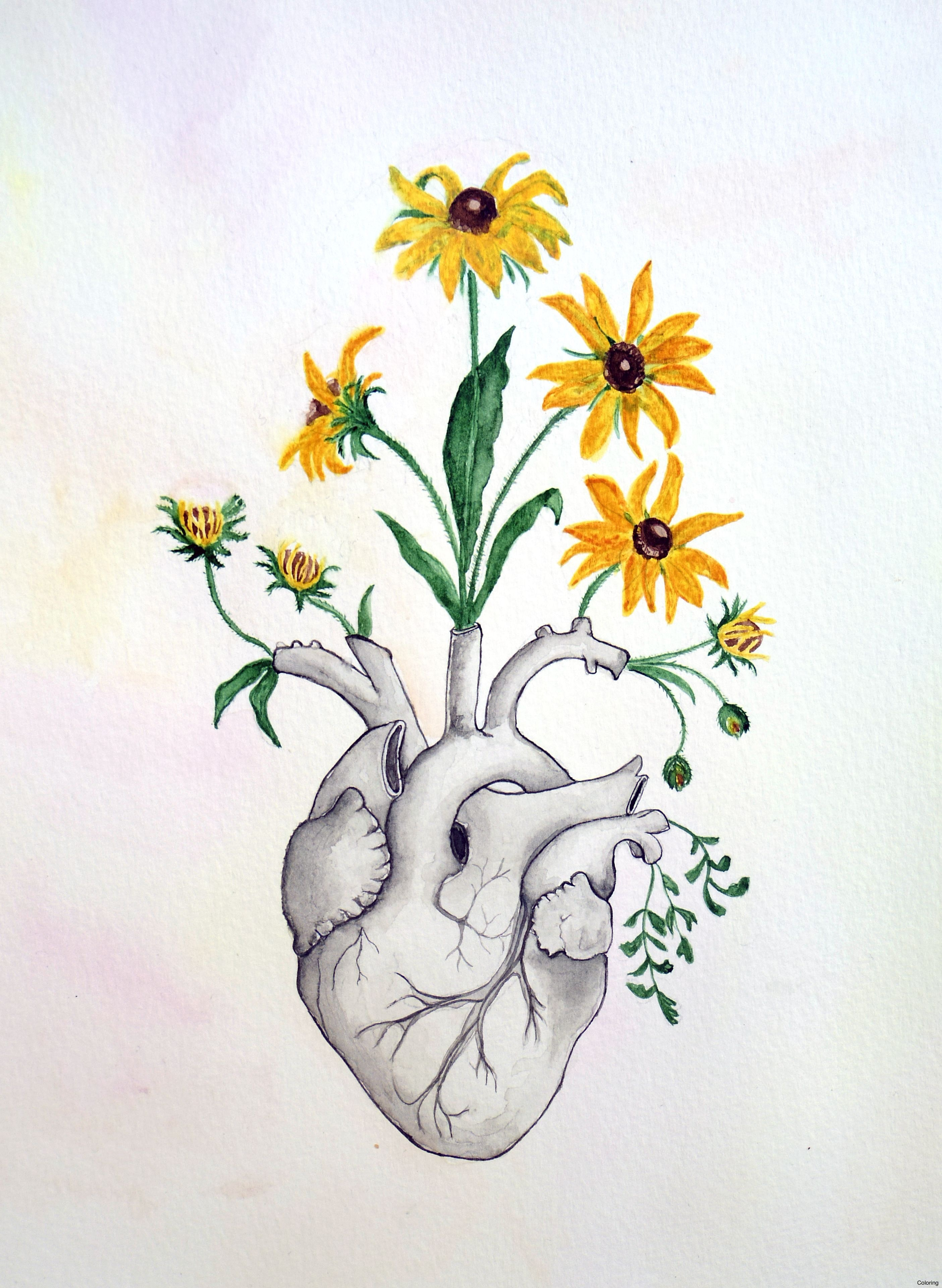 2809x3841 Rinr6rljt Heart And Flowers Drawings Coloring Clipart Library More