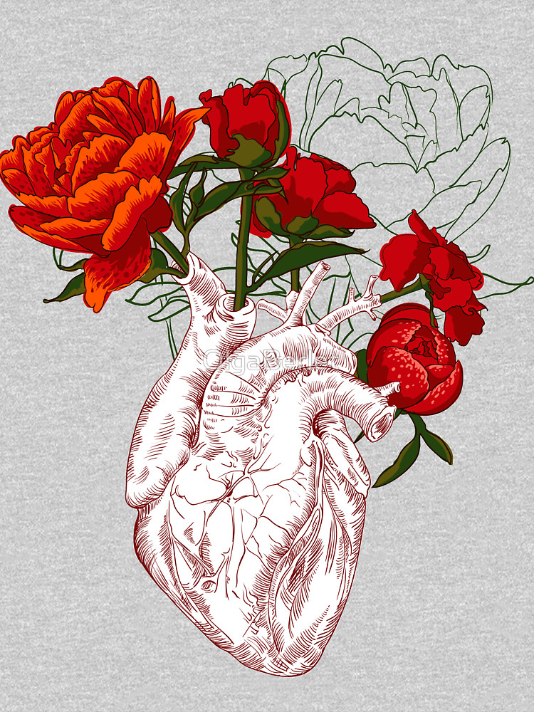It's just an image of Peaceful Drawing Of Hearts And Flowers