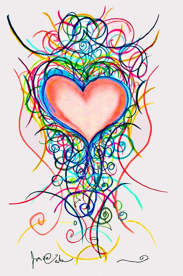 596x900 Martini Heart Drawing By Jon Veitch