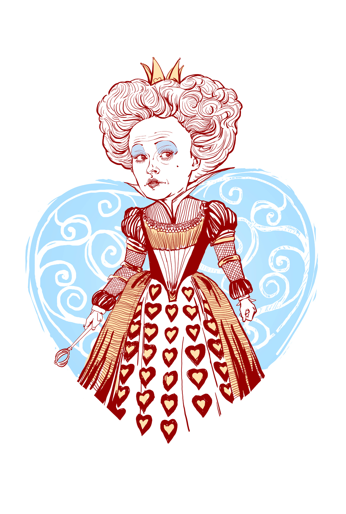 1200x1783 Queen Of Hearts Drawing Collection Of Solutions How To Draw Queen