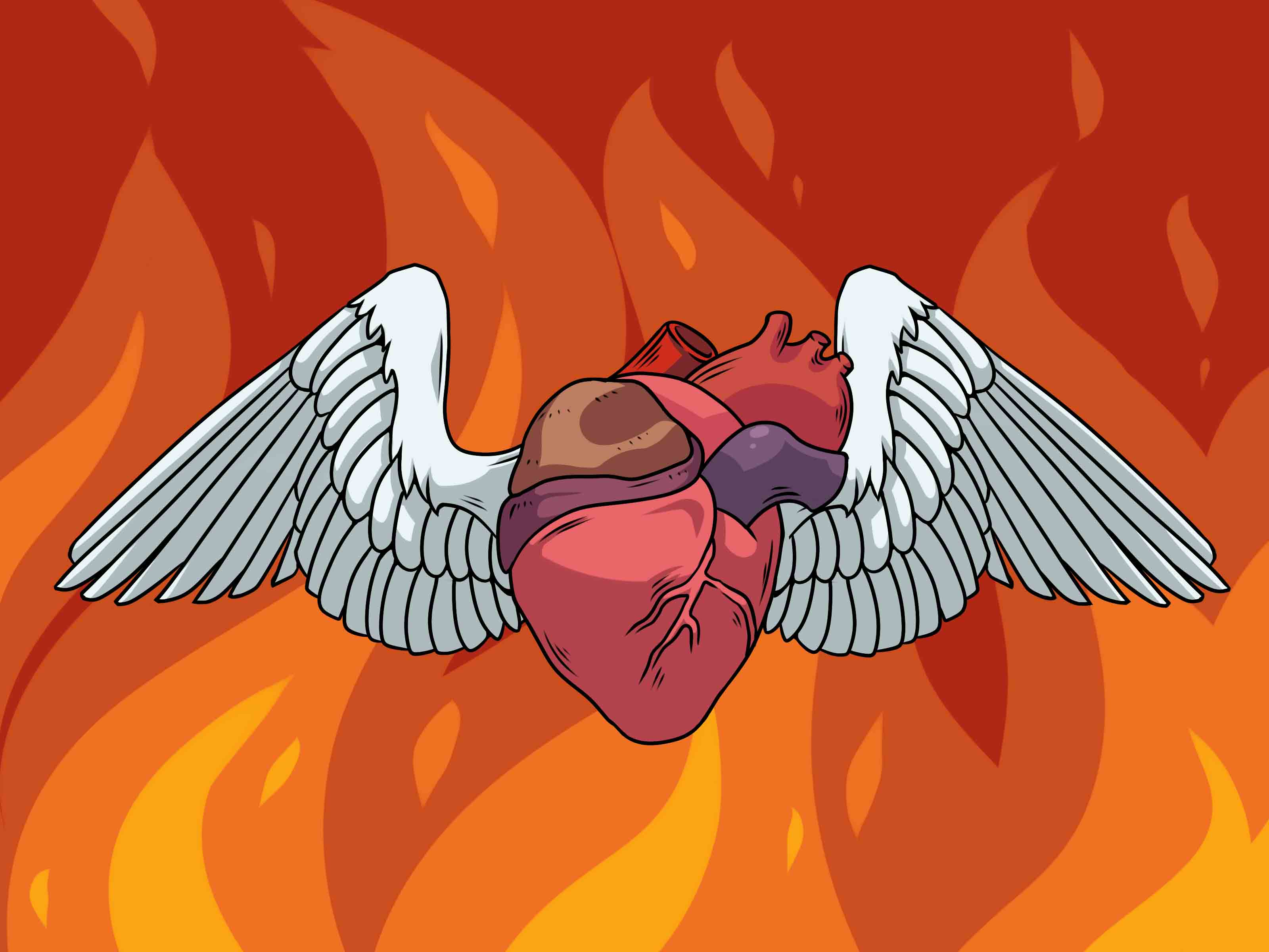 3200x2400 4 Ways To Draw A Heart With Wings