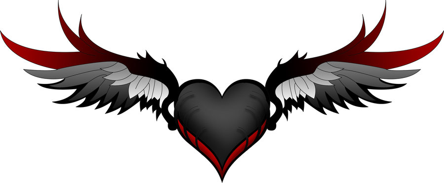 hearts with wings drawing at getdrawings com free for personal use rh getdrawings com pictures of hearts with angel wings pictures of broken hearts with wings
