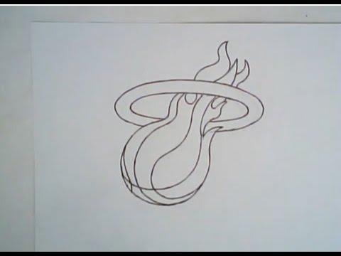 480x360 How To Draw The Miami Heat Logo
