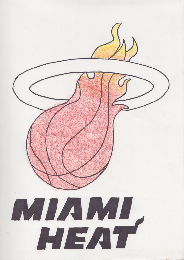 752x1063 Miami Heat Logo Inked And Colored By Greenxkoala