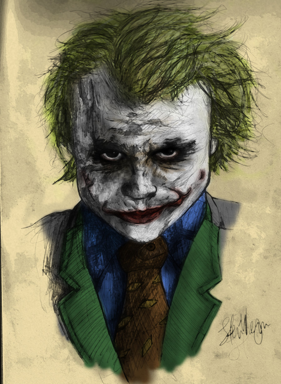 900x1229 Heath Ledger's Joker By Stuartwemyss