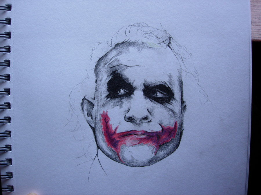 900x675 Heath Ledger Joker Sketch By Superstarmarr