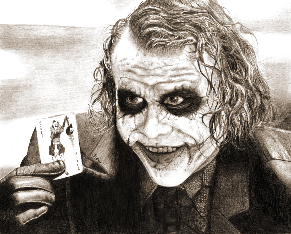 1200x965 Heath Ledger As The Joker By Deep Dark Eyes